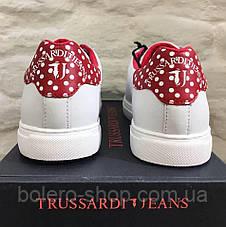 Кеды женские Trussardi Jeans белые с красным, фото 3