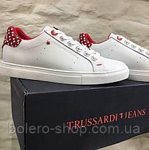 Кеды женские Trussardi Jeans белые с красным, фото 2