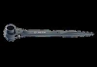 Ключ трещоточный силовой с двойной головкой 17*19mm(BLACK), фото 1