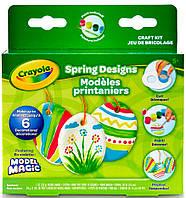 Набор для лепки с застывающим пластилином Весенние узоры, Model Magic, Crayola