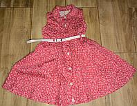 Сукня червона квіти святкова Туреччина 3,4 років