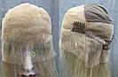 Парик блонд на полной сетке, женский из натуральных волос по плечи, фото 9