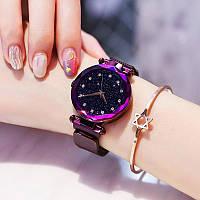 Женские часы Starry Sky Watch на магнитной застёжке Purple