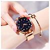 Женские часы Starry Sky Watch на магнитной застёжке Gold - Фото