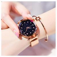 Женские часы Starry Sky Watch на магнитной застёжке Gold