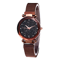 Женские часы Starry Sky Watch на магнитной застёжке Brown