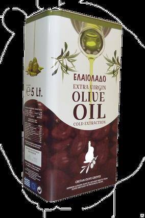 Масло оливковое  Elaiolado Extra Virgin Olive Oil, 5л Греция, фото 2