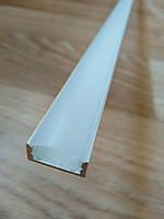 Профиль для светодиодной ленты ЛП7 не анодированный + рассеиватель Поликарбонат