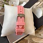 Женские наручные часы на силиконовом ремешке Geneva розовые, фото 4