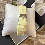 Женские наручные часы на силиконовом ремешке Geneva светло желтые, фото 4