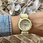 Женские наручные часы на силиконовом ремешке Geneva светло желтые, фото 5