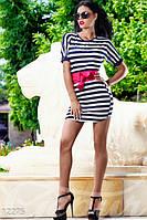 Женское короткое платье футболка с коротким рукавом коттон стрейч