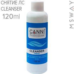 CANNI Средство для удаления липкого слоя Cleanser 3в1 Fresh 120ml, фото 2