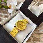 Женские наручные часы на силиконовом ремешке Geneva желтые, фото 3