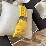Женские наручные часы на силиконовом ремешке Geneva желтые, фото 4