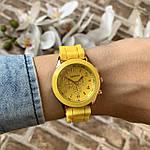 Женские наручные часы на силиконовом ремешке Geneva желтые, фото 5