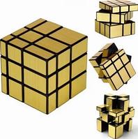 Игрушка логика Кубик рубика, головоломка кубик jiehui cube, Зеркальный кубик Рубика 3х3 QiYi Mirror Gold, фото 1