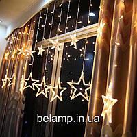 """Новогодняя гирлянда штора на окно  """"12 звезд"""""""