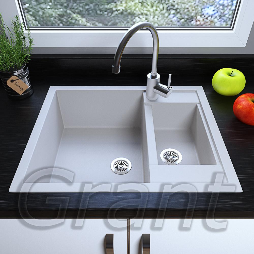 Мойка кухонная полуторачашевая 615х500 врезная Grant Duplex