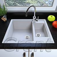 Мойка кухонная полуторачашевая 615х500 врезная Grant Duplex, фото 1