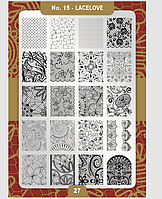 Пластина для стемпинга Moyra №15 Lacelove/Кружева