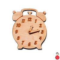 Заготовка Деревянные ЧАСЫ Будильник для бизиборда со Стрелками Дерев'яні годинники для бізіборда для 011190