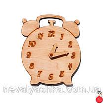 Заготовка для Бизиборда Деревянные ЧАСЫ Будильник со Стрелками Дерев'яні годинники для бізіборда