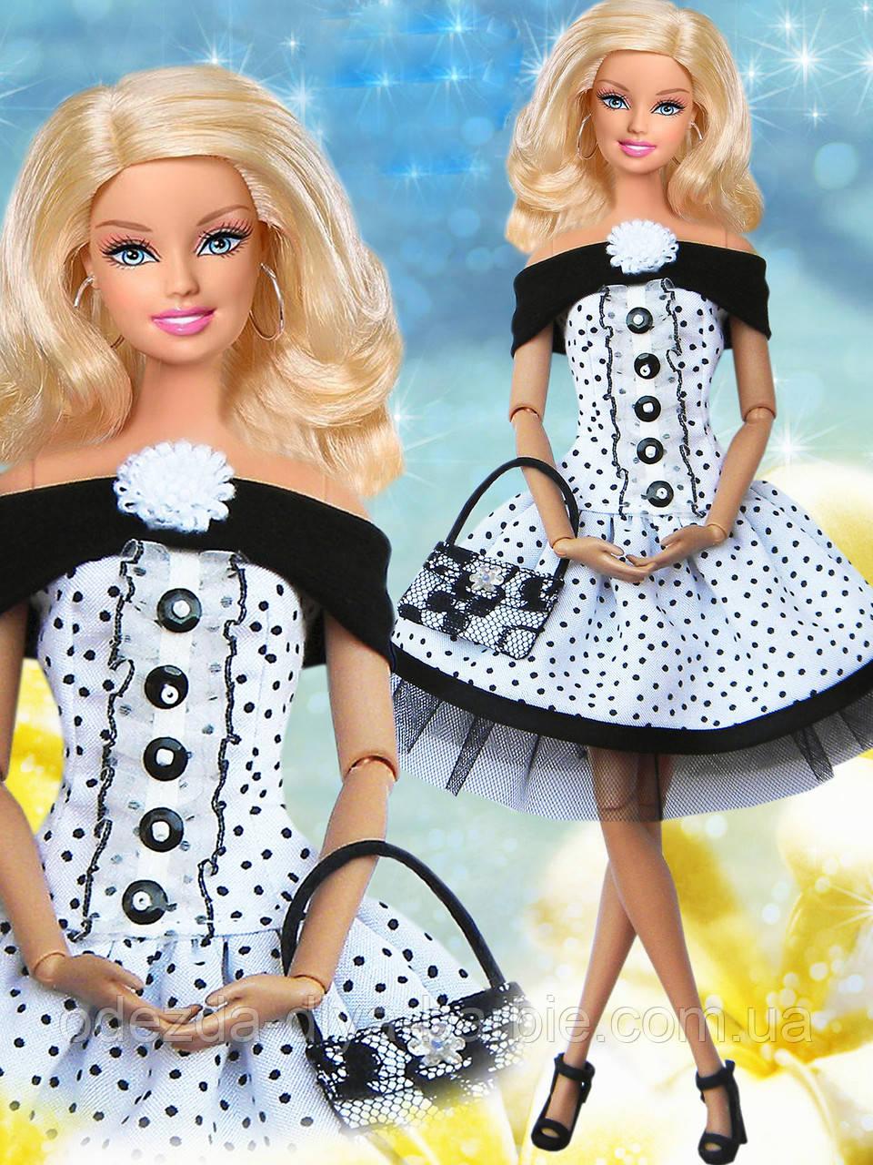 Одежда для кукол Барби - платье и сумочка