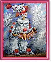 """Репродукция  современной картины """"Белый клоун"""""""