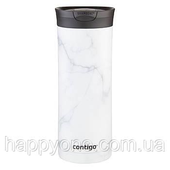 Термокружка Contigo Huron Couture Snapseal White Marble (590 мл)