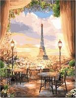 Картина по номерам без коробки. Вид на Эйфелеву башню