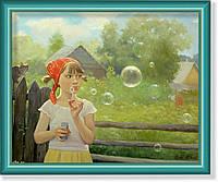 """Репродукция  современной картины """"Большой пузырь"""""""