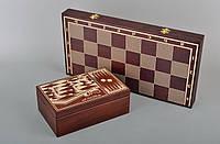 Набор 2 в 1: Нарды+шахматы со шкатулкой для фигур и фишек 51см