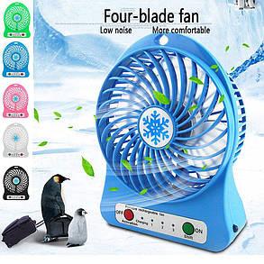 Портативный вентилятор USB Portable Fan Mini , фото 2