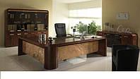 Кабинет руководителя из шпона на заказ, офисная мебель из натурального шпона