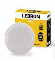 LED Світильник LEBRON L-WLR, 12W, круглий, 4100K, 1020LM, КУТ 140°