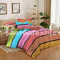 """Комплект постельного белья сатин """"Цветные полосы"""""""