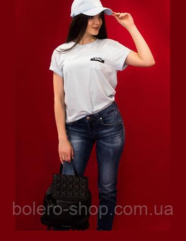 Женская кепка Karl Lagerfeld нежно-голубой, фото 2