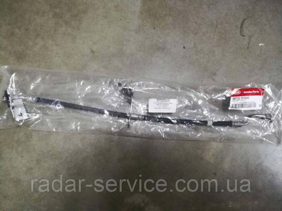 """Шланг гальмівний передній правий кіа Спортейдж 4 R16"""", KIA Sportage 2019- Qle, 58732d3500"""