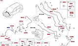 """Шланг гальмівний передній правий кіа Спортейдж 4 R16"""", KIA Sportage 2019- Qle, 58732d3500, фото 7"""