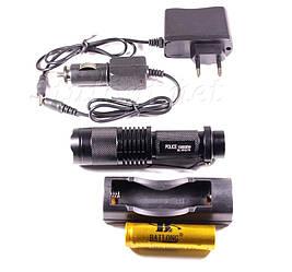 Фонарь Police BL-T1812/ Li-ion 18650 / 1 х Cree XM-L T6/ Zoom/