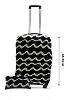 Чехол для чемодана  Coverbag дайвинг L волны черные