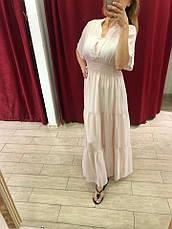 Женское платье Италия нежно-розовое макси, фото 2