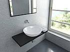 Умывальник литой мрамор  PALERMO 500х500х134 белый глянцевый  ТМ Miraggio, фото 10