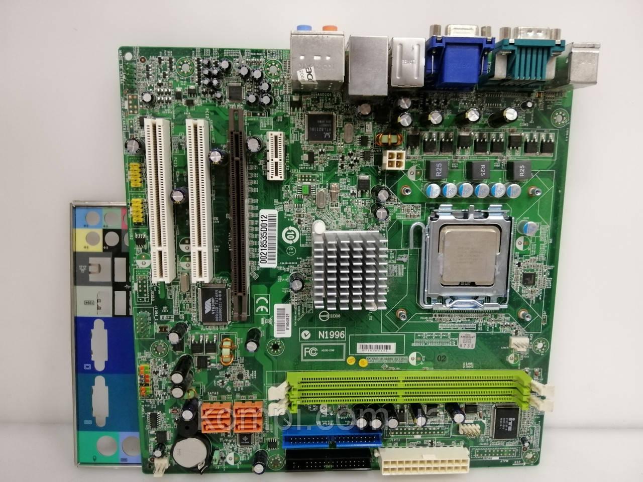 Материнская плата ACER/ECS EG31M+E6300 G31  S775/QUAD DDR2