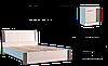 """Кровать """"Венеция""""1600+ламели"""