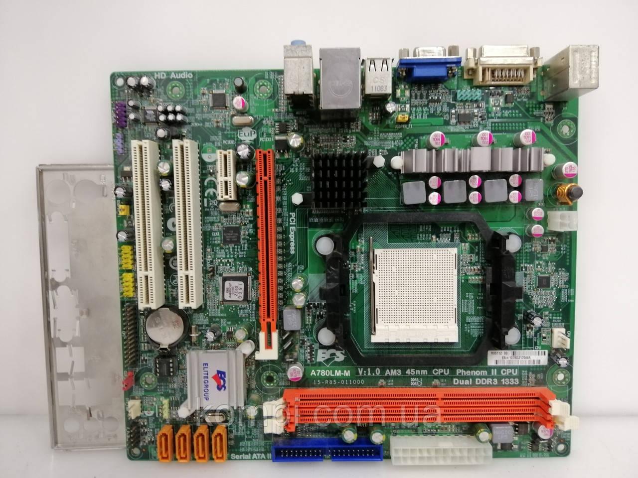 Материнская плата ECS A780LM-M   AM2+/AM3 DDR3
