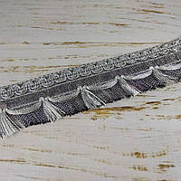 Бахрома Парча 4,8см №1283 S серебро перемерять!!!!!