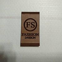 Бирка-лейба FASHION 21 16*28мм коричневая