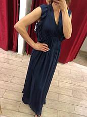 Женское платье Италия синее макси, фото 3